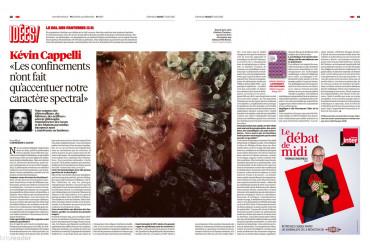 Libération (17  août 2021) : L'avènement des fantômes (Kévin Cappelli) est à l'honneur dans Libération